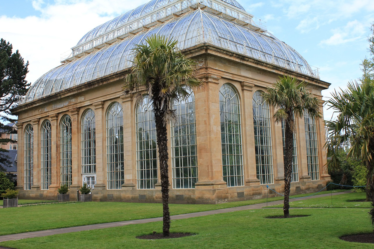 The Palm House in Edinburgh Royal Botanic Gardens