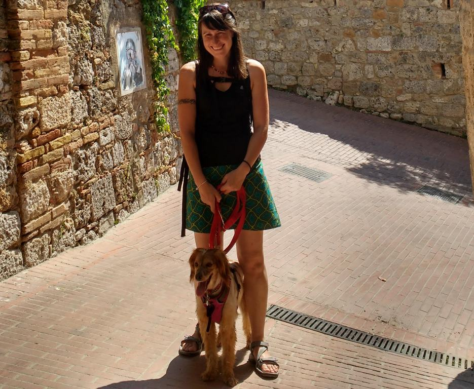 In San Gimignano just before the unfortunate incident
