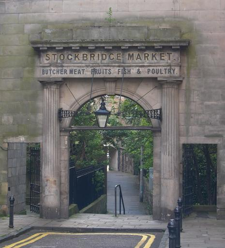 The original entrace to the Stockbridge Market