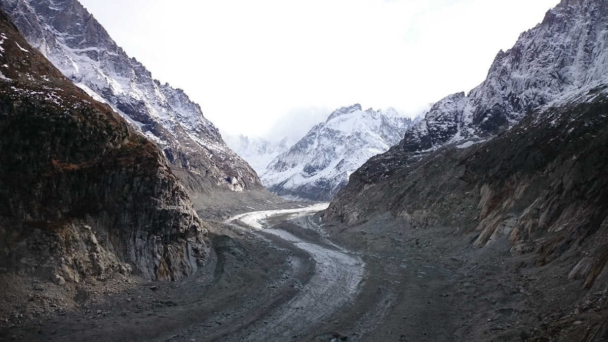 Mer De Glace Glacier and Climate Change