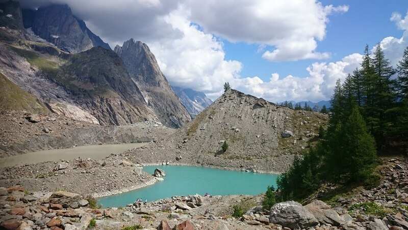 Lago Miage Glacial Lake