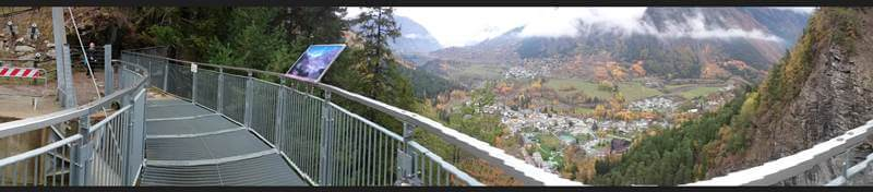 Panaramo from the Orrido di Pré-Saint-Didier Walkway