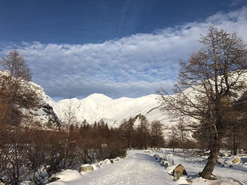 Snowy Val Ferret Courmayeur