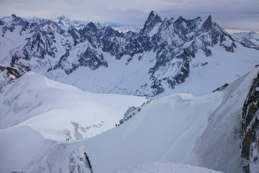 Views from the Aiguille Du Midi Cable Car