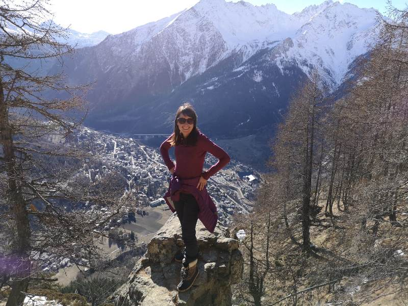 Views of Courmayeur on the walk to Rifugio Bertone
