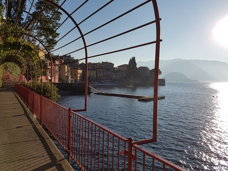 The 'Walk of Lovers' at the water's edge in Varenna