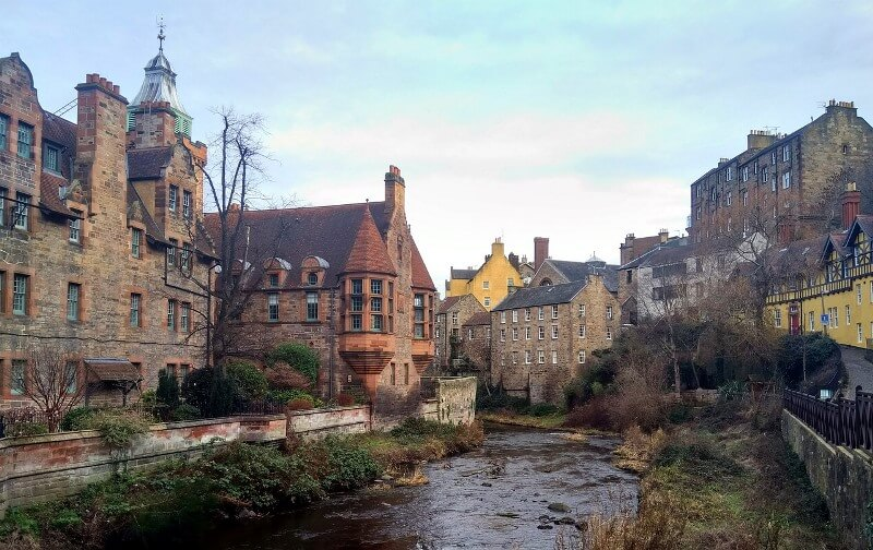 Dean Village Dog Walk in Edinburgh