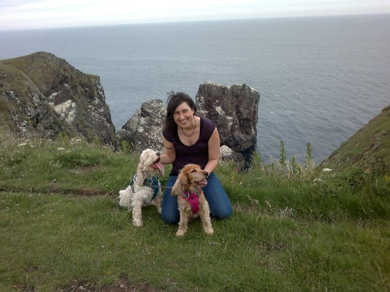 St Abbs Head Dog Walk