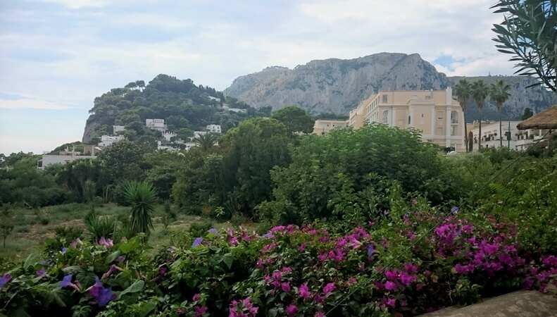 The walk up to Capri Town from the Marina