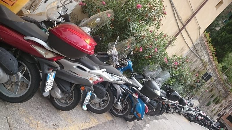 Scooters in Amalfi Town